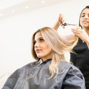 image of hairdresser cutting hair